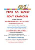 Zápis MŠ Nový Kramolín